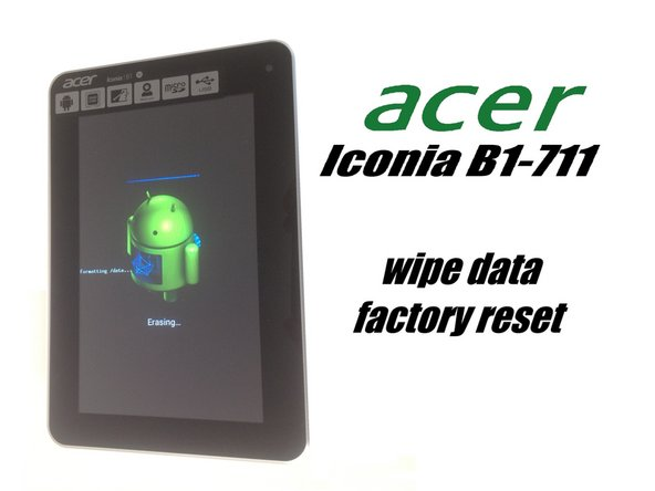 acer iconia tab b1 711 3g factory hard reset password removal rh ifixit com acer iconia tab user manual acer iconia tab 10 manual