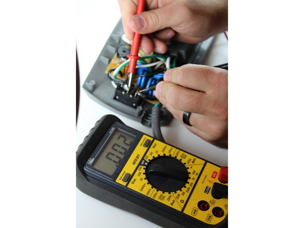Test power strip using an Ohmmeter by touching both solder joints while in off position.