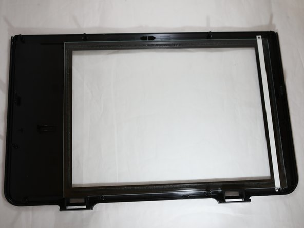 Remove the glass scanner bed.