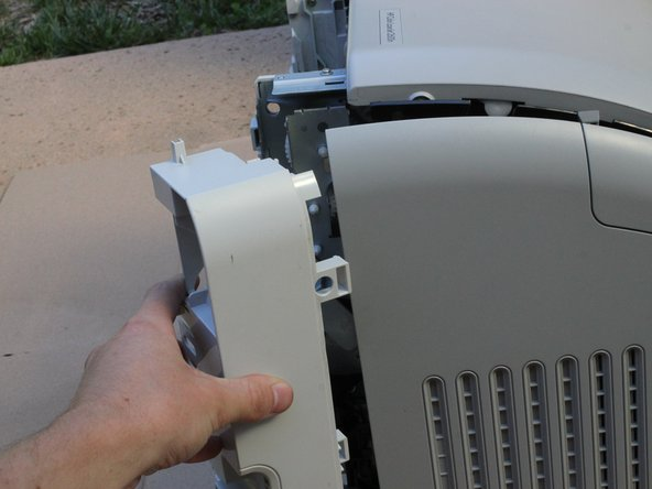 Remove the right base cover and right cover from the printer.