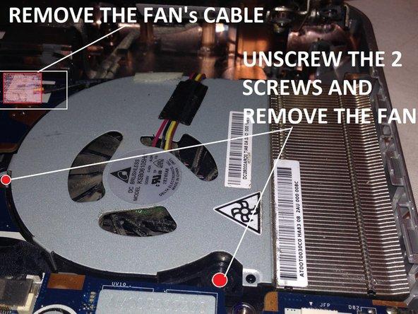 Remove the fan cable