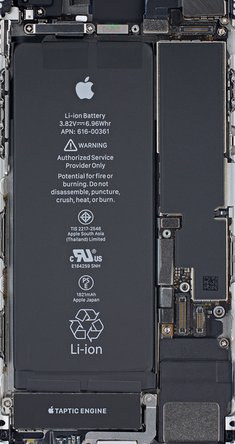 iPhone 8 teardown internals wallpaper