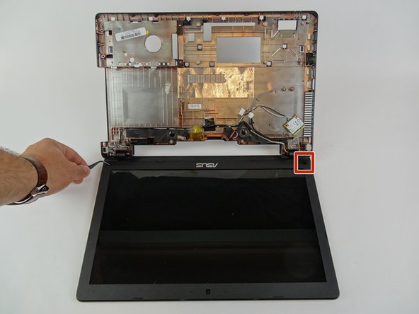 Flip laptop to sit with the screen on the bottom.
