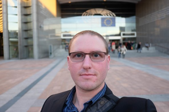 iFixit CEO Kyle Wiens at the European Parliament