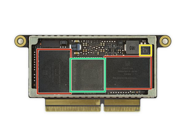SanDisk SDRQKBDC4 064G 64 GB NAND flash memory (x4 for a total of 256 GB).