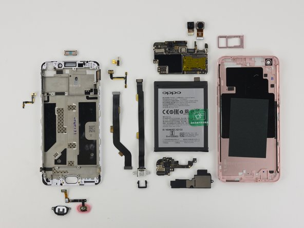 The Oppo R9m earns a 7 out of 10 on our repairability scale (10 is the easiest to repair):