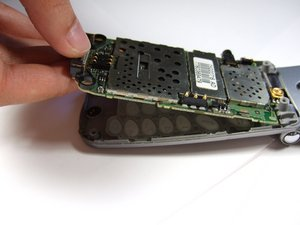 Disassembling Panasonic GU87 Main Board removal
