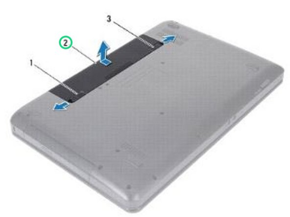 Slide the battery into the battery bay until it clicks into place.