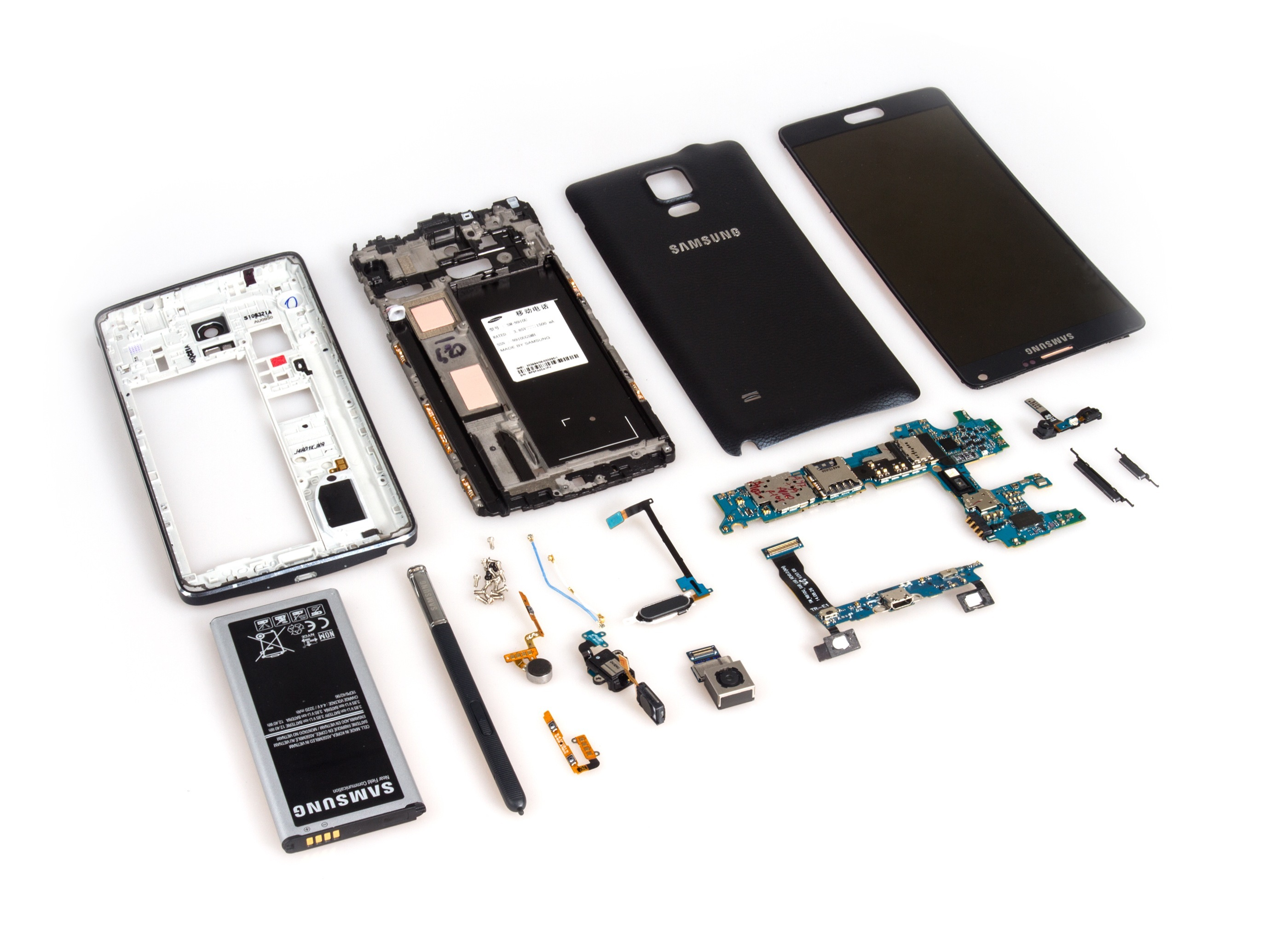 Samsung Galaxy Note 4 Teardown Ifixit