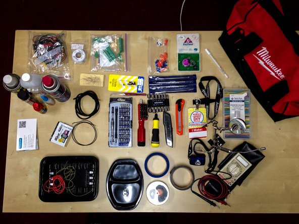 Steve Berl's tool bag at the fixit clinic