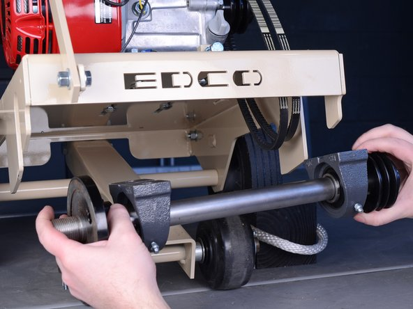 Edco Cement Saw KL1465H 2015 Arbor Replacement