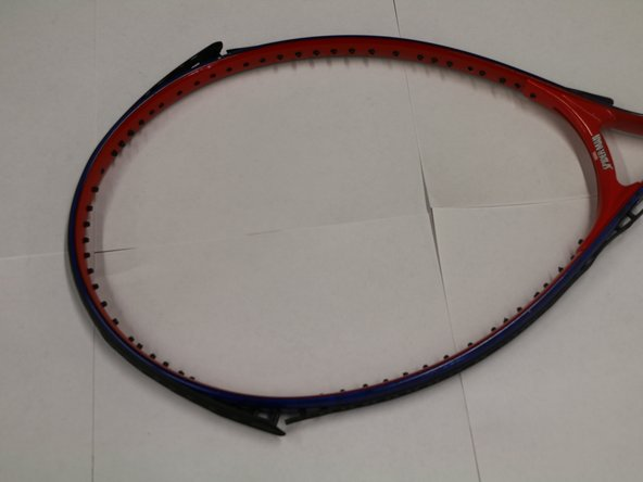 This is how the finished tennis racket will look like.