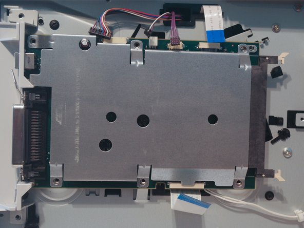Image 2/3: Remove 6 screws on the formatter cover.