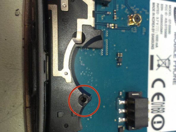 Remove the screw on the lower zone of the main board. The screw is the same of the case, so dont worry if you mix them.