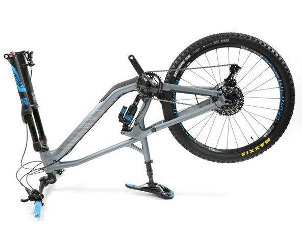 Flip your bike upside down or attach it to a bike stand.