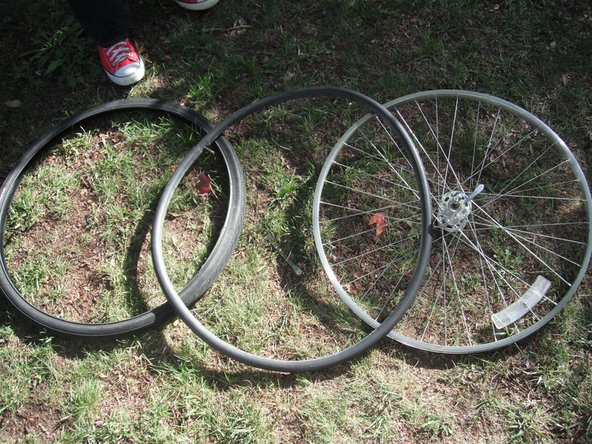 Now, you've separated your tube, tire and rim.