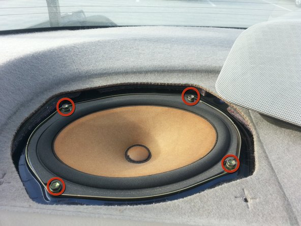 Image 1/1: Lift the speaker out and removal is complete.