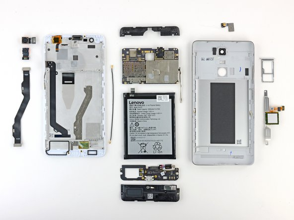 The Lenovo K5 Note earns a 6 out of 10 on our repairability scale (10 is the easiest to repair):