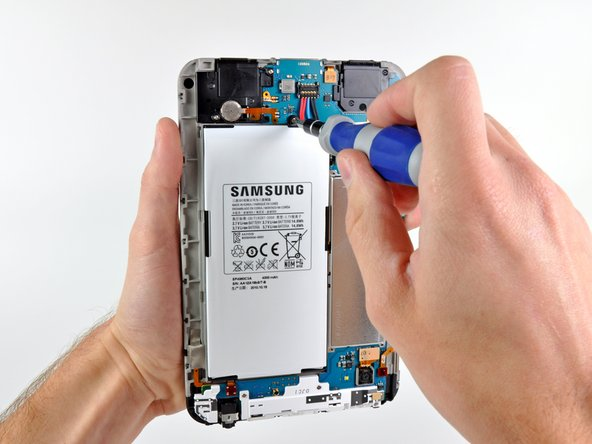 Nearly half of the Galaxy Tab's real estate is engulfed by the battery.