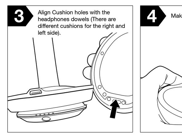 3. Grab your replacement right side cushion You will see that the right side cushion is the cushion with a gap where the USB port should be. These are not an ordinary cushions, they have an extremely strong and thick adhesive that is crucial for this process to work.