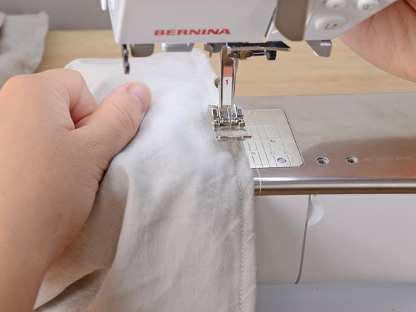 Sew over the first few stitches to prevent the stitches from unraveling.