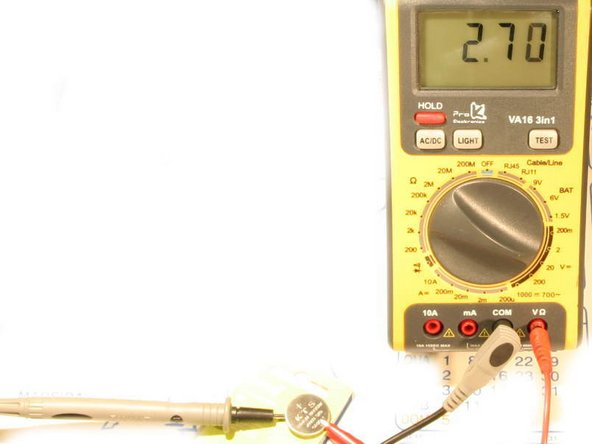 If you have a multimeter, check the old battery. A good one should read 3 V or higher. A fresh one reads 3.2 V or more.