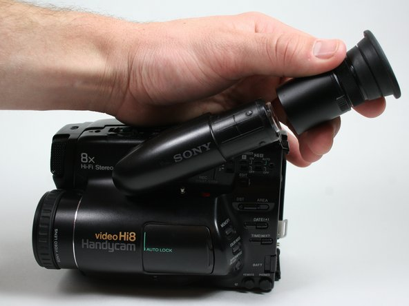 Pull the eyepiece completely off  away from the rest of the viewfinder.