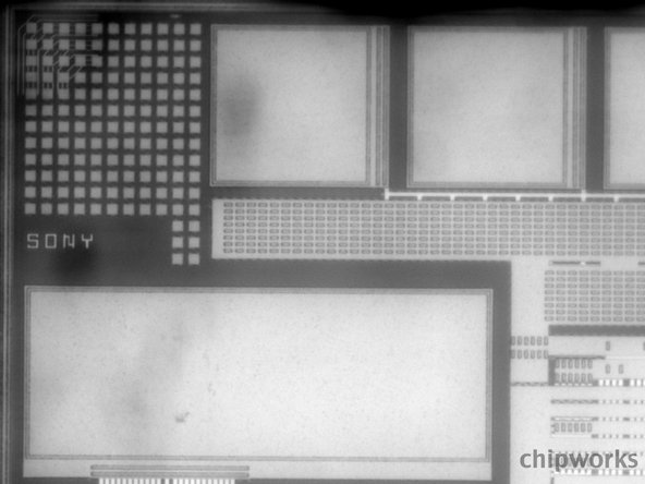 X-ray of Sony chip in the iPhone 5 camera