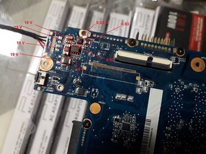 How to Repair Tohsiba Satellite C850 Motherboard No Power or No Charge (MOSFET Change)