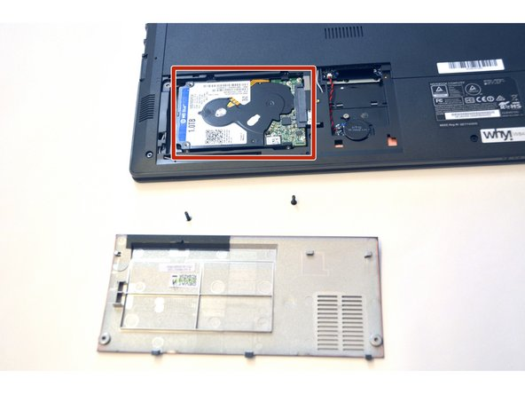 Unplug the HDD hard drive from its SATA3 connector.