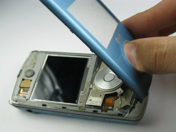 Separate the front faceplate from the device completely.