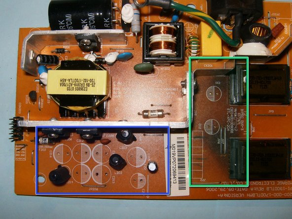 Image 3/3: Clearly visible is the charred area on the logic board at the transformer side