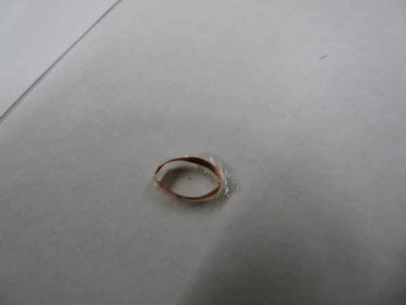 This is the copper band that was suronding the magnet.