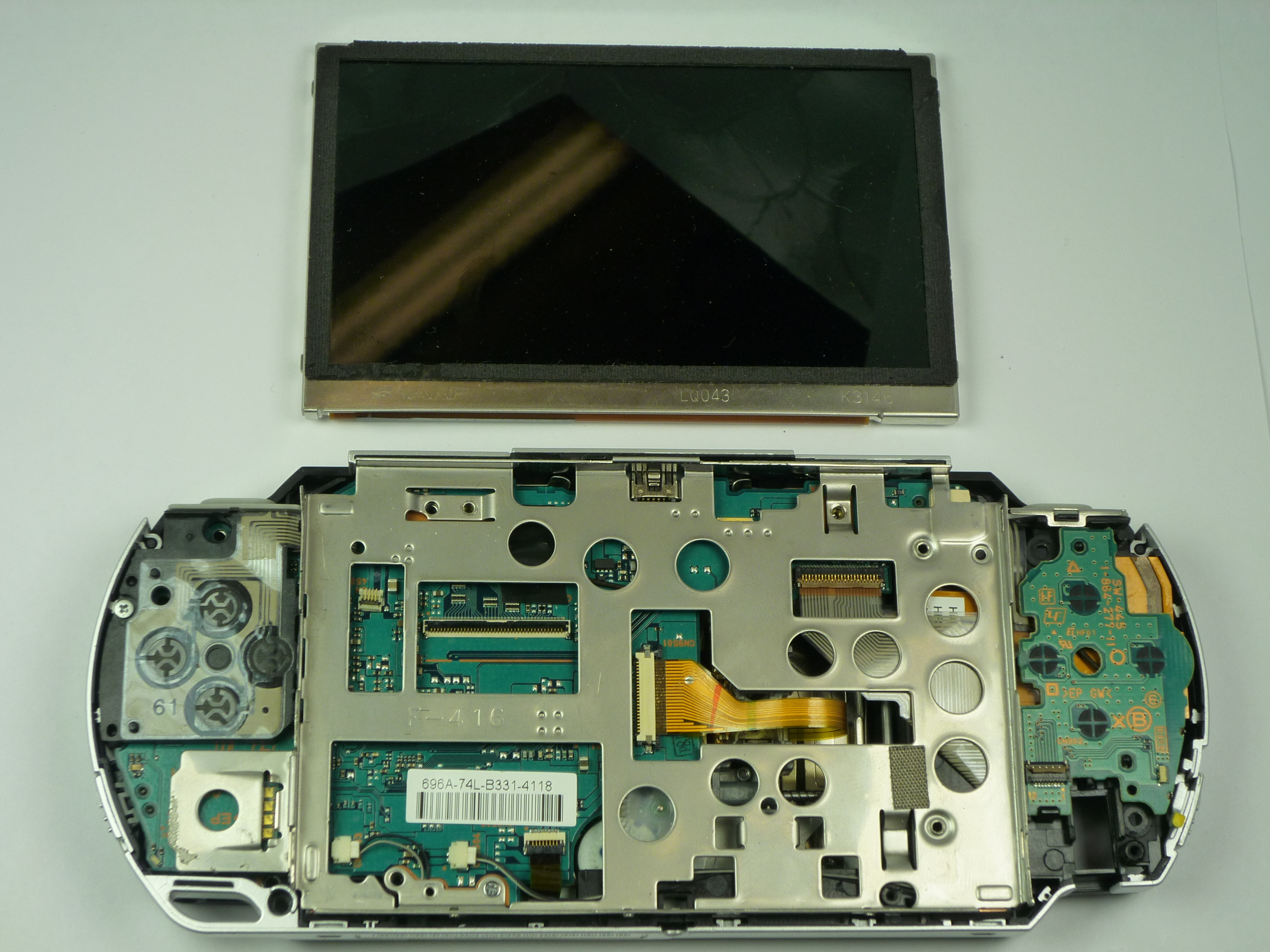 psp 1000 lcd screen replacement ifixit repair guide rh ifixit com psp 3000 repair manual PSP AC Adapter Manual