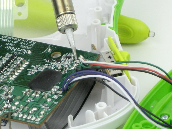 Remove the  pen wires from the motherboard with the soldering iron.