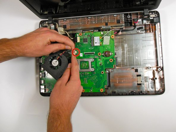 Image 1/1: Complete the previous steps in reverse order to reassemble and replace the cooling fan.