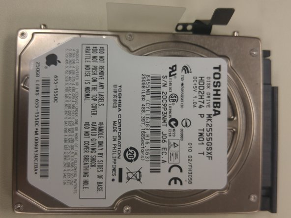 Congrats, you have removed the hard drive!