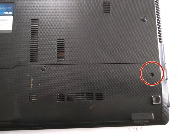 remove the 2 screws holding the plastic plate , underneath is the RAM/ WiFi and HDD