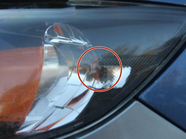 You should see the bulb being removed from its front-turn signal location.