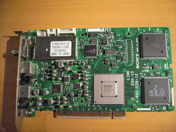 Unscrew and remove the Mpeg/Video In Board.