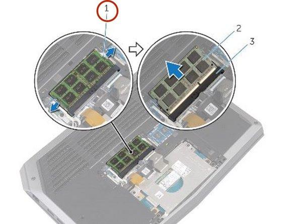 Dell Alienware 13 - Reemplazo del módulo de memoria