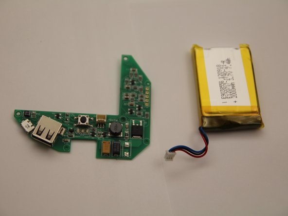 Now that the battery is removed, you can plug in your new Lithium Polymer Battery - 3.7V 2000mAh into the circuit board.