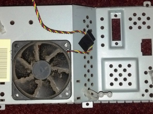 pic of housing seperated from formatter board, you can see where the screws holding it down should be.