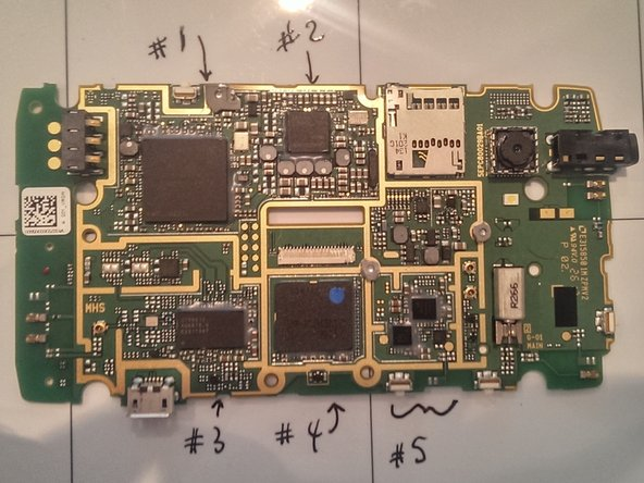 Image 1/3: The exposed motherboard is shown here along with microscope pictures of the chips.