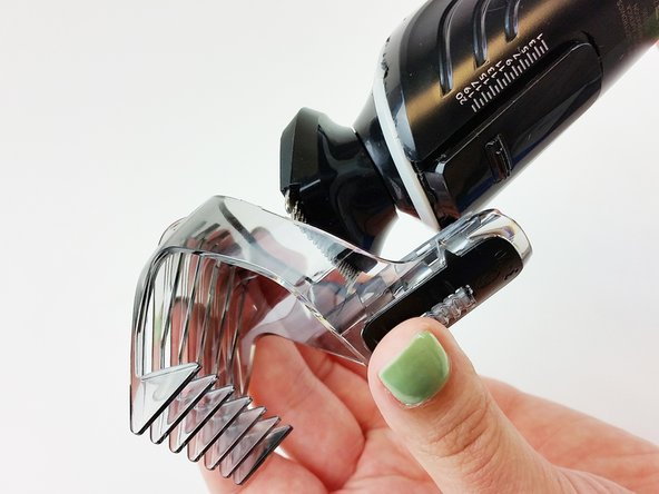 Remove the comb from the top of the trimmer.