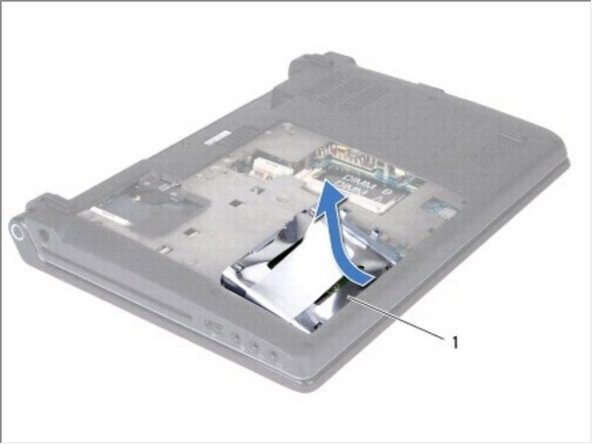 Tilt the hard drive by 45-degrees and lift it out of the computer base.