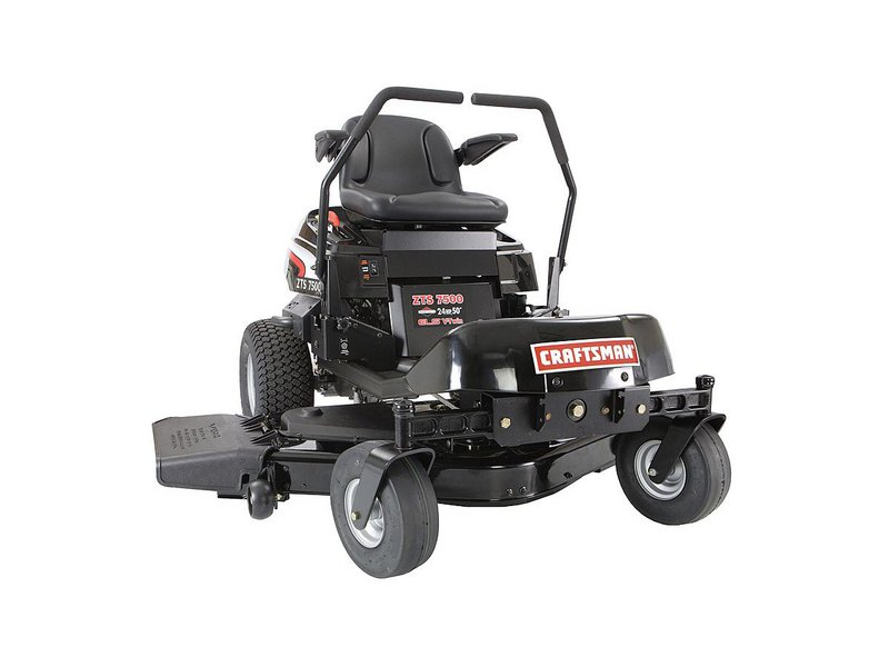 lawn mower craftsman zts 7500