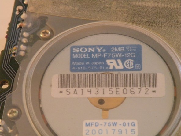 This drive was manufactured by Sony in 1990.