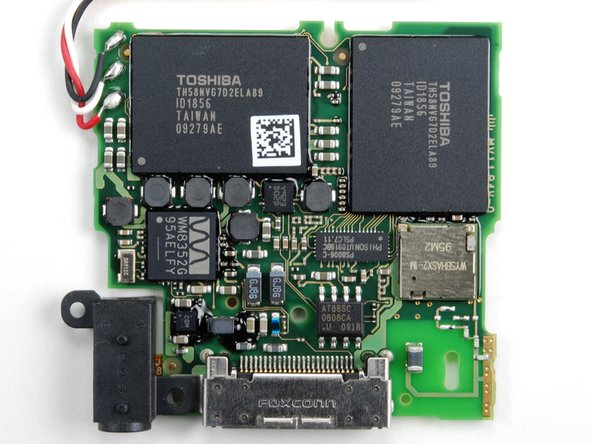 Image 1/2: The long rectangular chip near the center of the board is the [link|http://www.phison.com/English/ProductView.asp?ID=135&SortID=7|Phison Electronics PS8006] NAND controller.