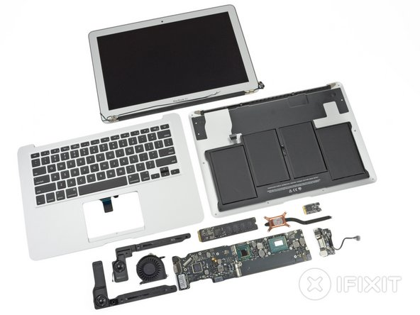 "Image 1/2: MacBook Air 13"" Mid 2012 Repairability Score: '''4 out of 10''' (10 is easiest to repair)."